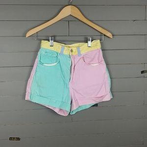 American Apparel Color Block Shorts